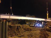 Lắp đặt thành công phiến dầm thép đầu tiên tại công trình cầu vượt thép nút giao Nguyễn Kiệm – Nguyễn Thái Sơn